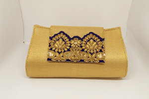 Gold Brocade Clutch