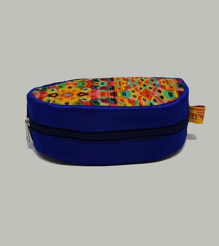 Blue Round Shaped Utility Pouch