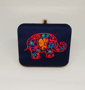Elephant Design Box Clutch