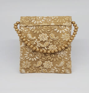 Gold Net Mobile Pouch
