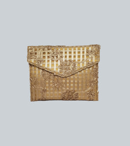 Lace Fabric Envelope Clutch