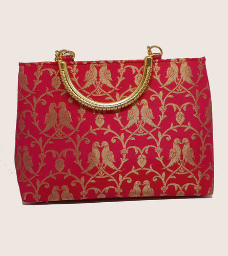 Pink Gold Handle Bag