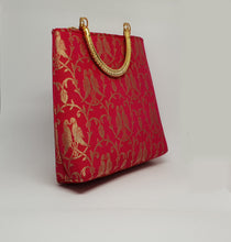 Load image into Gallery viewer, Pink Gold Handle Bag