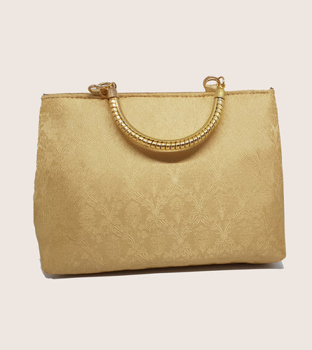 Cream Gold Handle Bag