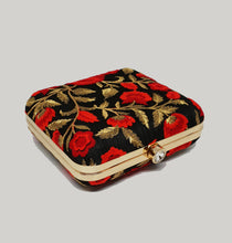 Load image into Gallery viewer, Red Floral Box Clutch