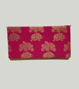 Pink Brocade Envelope