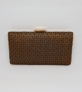 Black Brocade Box Clutch