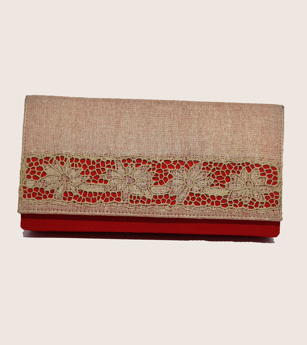 Red Jute Cutwork