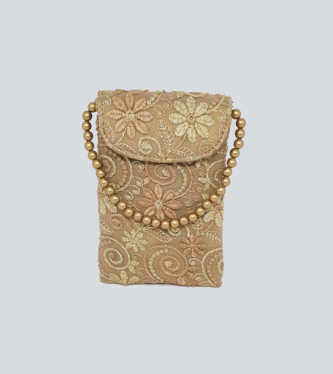 Gold Lace Mobile Pouch