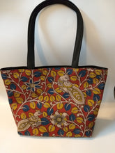 Load image into Gallery viewer, Yellow leaves Peacock Print Tote