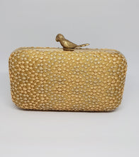 Load image into Gallery viewer, Gold Birdie Box Clutch