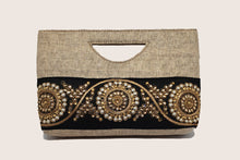 Load image into Gallery viewer, Cream Jute Clutch