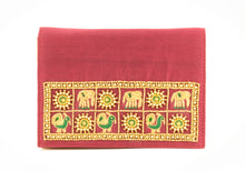 Load image into Gallery viewer, Artisan Handmade Red Embroidered Clutch
