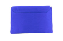 Load image into Gallery viewer, Artisan Handmade Painted Envelope Clutch with Royal Blue Base