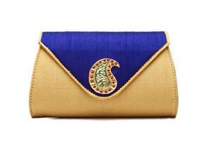 Blue With Gold Tanjore