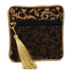 Black Brocade Coin Purse