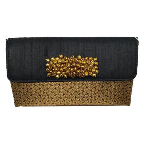 Black with Gold Ghungroo
