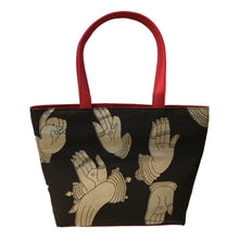 Load image into Gallery viewer, Black Mudra Print Tote