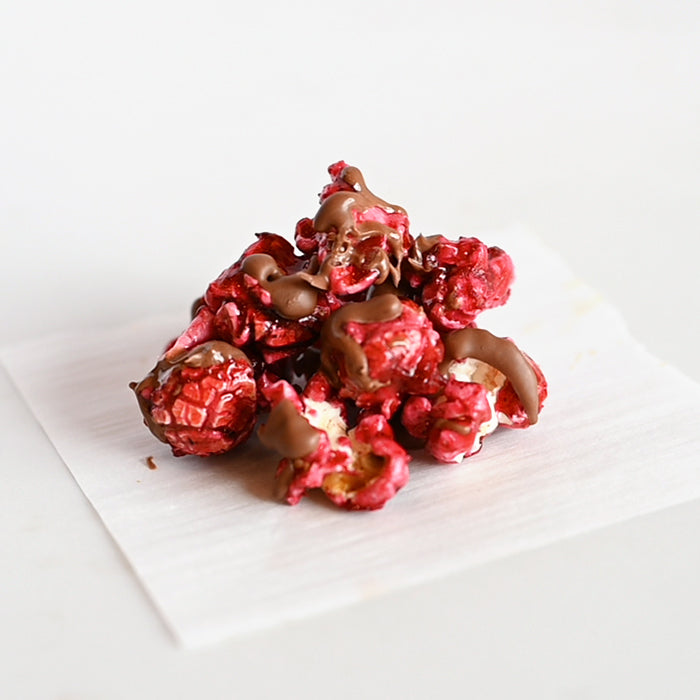 Pomegranate with Chocolate Drizzle