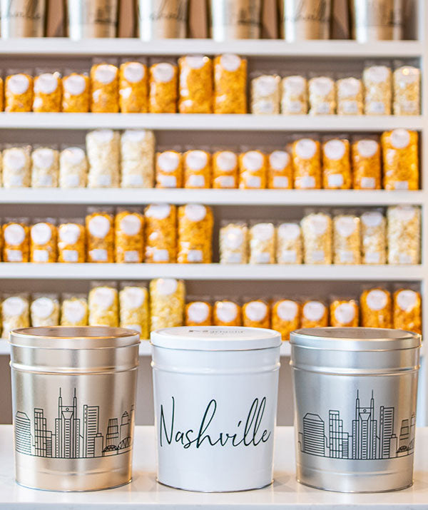 Nashville Skyline Popcorn Tin - Empty