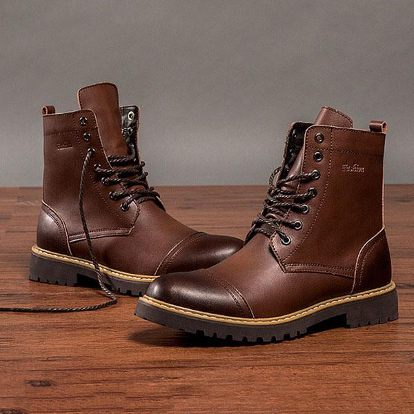 9f8a9855e58ea Men Vintage British Style Lace-Up Martin Boots – florychic