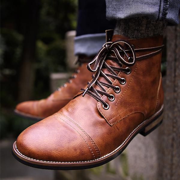 1091d94a6c075 Men Vintage Leather Ankle Boots – florychic