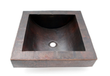 Ambiente Handmade Copper Square Drop-In Bathroom Sink (Model:  ZML1112)