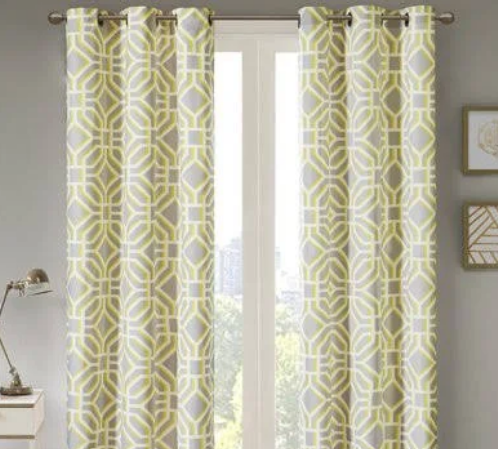 Beachcrest Home Keilen Geometric Room Darkening Grommet Single Curtain Panel (Model:  BCHH5271)