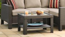 Beverly Outdoor Coffee Table with Glass Top