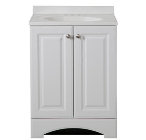 "Glacier Bay 30-1/2"" Vanity in White with Cultured Marble Vanity Top in White"