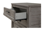 Camaflexi Carmel Night Stand - 3 Drawer - Antique Grey Finish