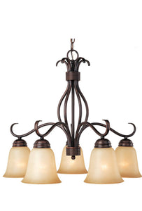 Charlton Home Wehr 5-Light Shaded Chandelier Finish: Wilshirewith Oil Rubbed (Model:  THRE3699)