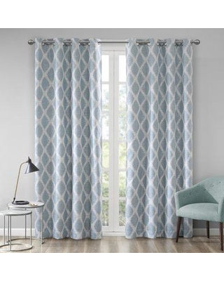 Ebern Designs Hutton Printed Ikat Blackout Single Curtain Panel  (Model:  EBDG4733)