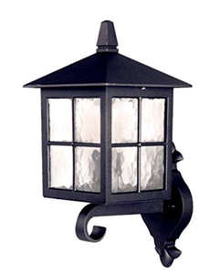 Elstead Lighting EL/BL17 Winchester Wall Up Lantern, Black