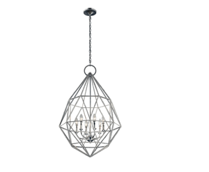 Feiss Marquisse 6-Light Silver Large Pendant