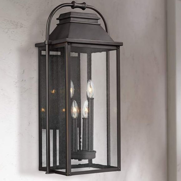 Feiss Wellsworth 4-Light Antique Outdoor Wall Lantern (Model: 152HDXC470059)