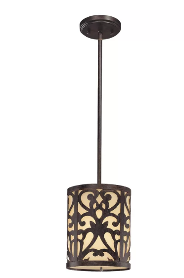 Fleur De Lis Living Aegean 1-Light Drum Pendant (Model:  FDLL4540)