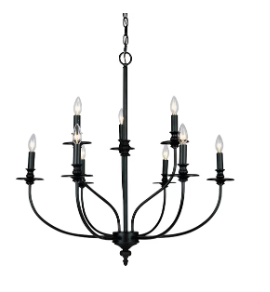 Giverny 9-Light Candle Style Chandelier