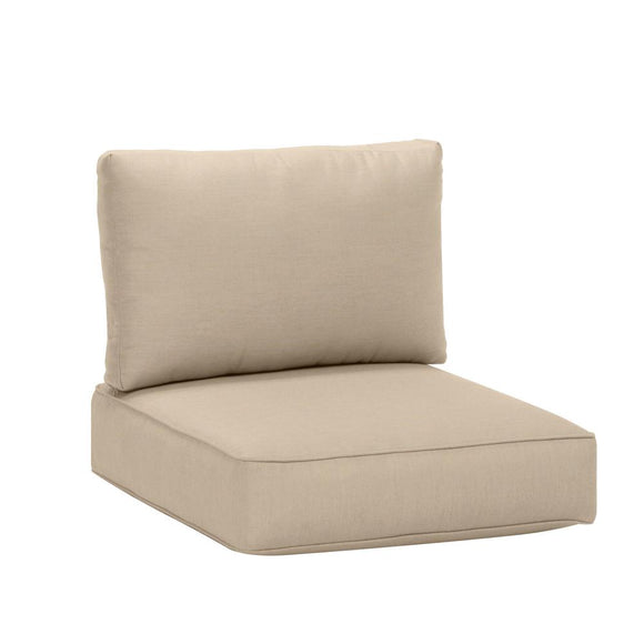 Commercial-Grade Armless Outdoor Patio Chair Cushions in Antique Beige