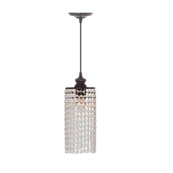 Home Decorators Collection Shimmer Single Lamp Clear Pendant Light (Model:  PBN-3933-001)