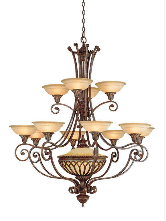 Feiss Stirling Castle Multi-Tier Chandelier in British Bronze (Model: F1918/12+1BRB)