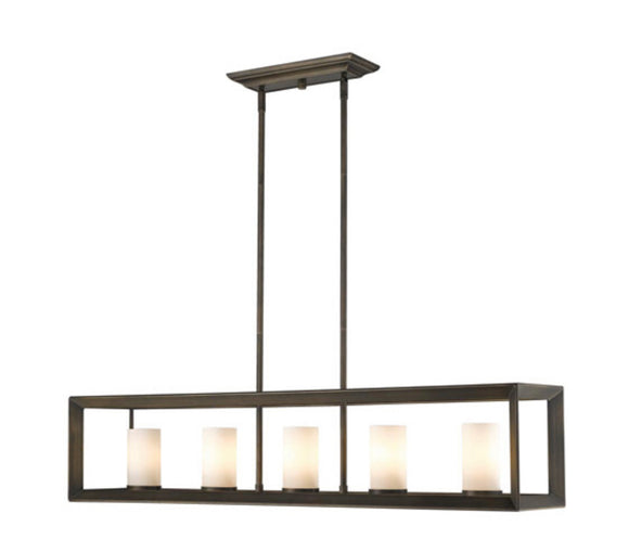 Golden Lighting Smyth Gunmetal Bronze 5-Light Island Light (Model 2073-LP GMT-OP)