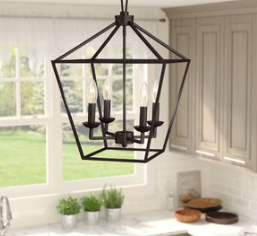 Laurel Foundry Modern Farmhouse Carmen 4-Light Lantern Pendant (Model: LRFY3247)