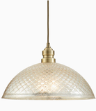 allen + roth Lynlore Old Brass Vintage Mercury Glass Dome Pendant Light Item (Model #B10031)