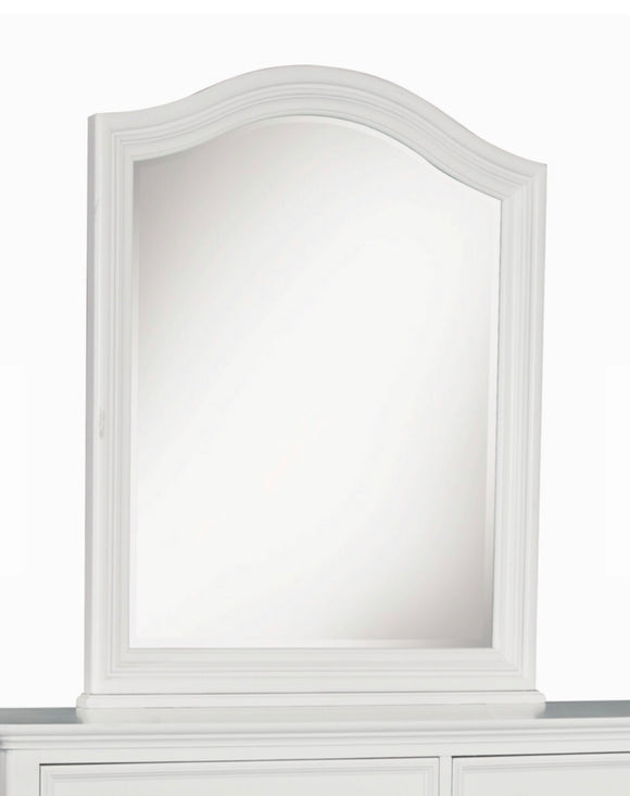 Madison Arched White Mirror