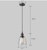 CLAXY Ecopower Industrial 3-Mini Glass Pendant Oil-Rubbed Bronze Hanging Light B8835DU-J