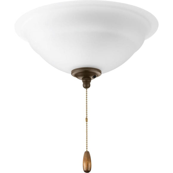Progress Lighting Joy 3-Light Incandescent Ceiling Fan Light Kit w/Etched Glass/Shade (Model: P2650-09)