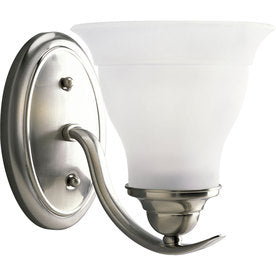 "Progress Lighting Trinity 1-Light 6.5"" Brushed Nickel Bell Vanity Light ENERGY STAR"