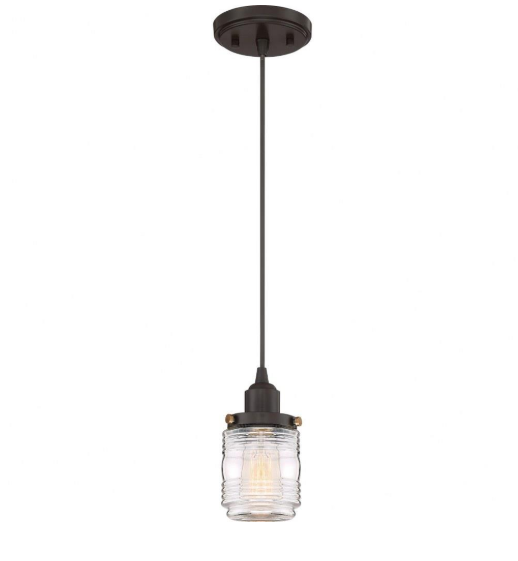Quoizel Belmont Farmhouse Jelly Jar Pendant Lighting (Model: BNT1504WT)