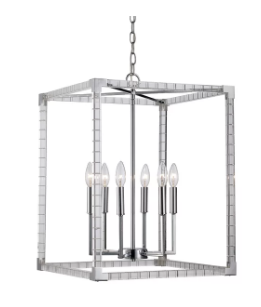Mercer41 Renhold 6-Light Square/Rectangle Chandelier (Model:  MCRF1928)